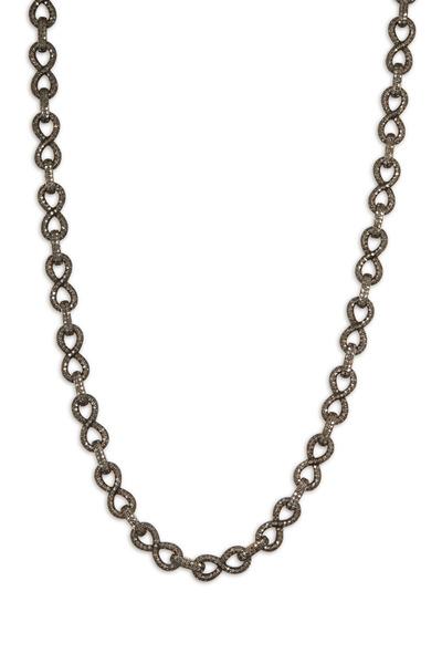 Loren Jewels - Sterling Silver Pavé-Set Diamonds Link Necklace