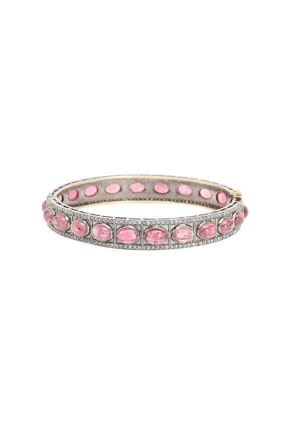 Loren Jewels 14K Gold & Silver Diamond & Tourmaline Bracelet