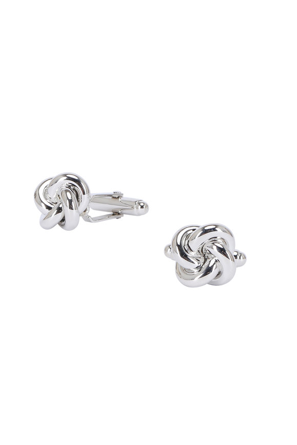 David Donahue Sterling Silver Knot Cuff Links