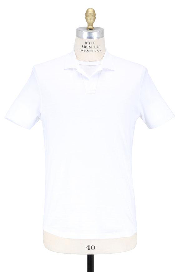 Orlebar Brown White Cotton Polo