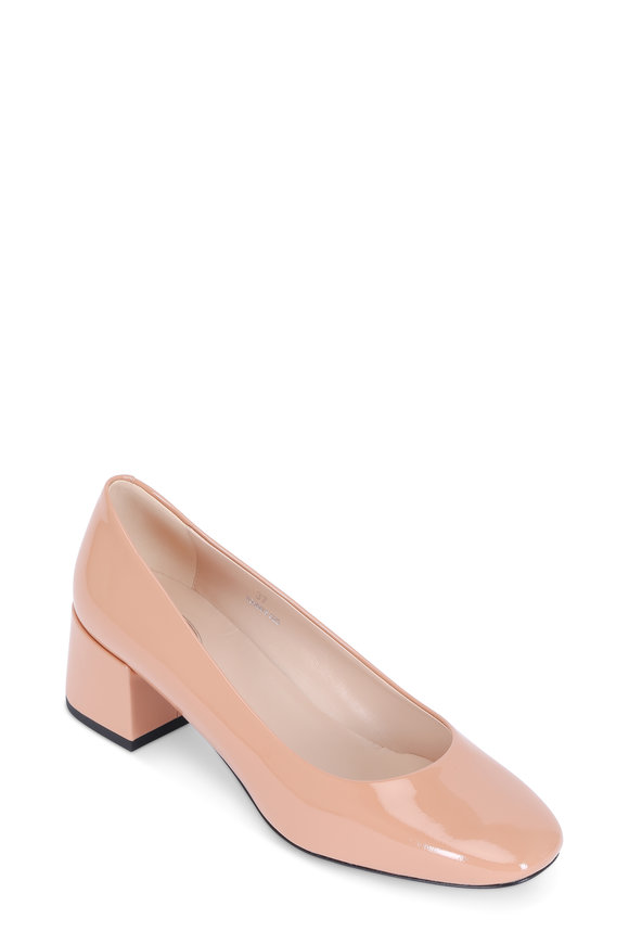 Tod's Cameo Patent Leather Block Heel Pump, 45mm