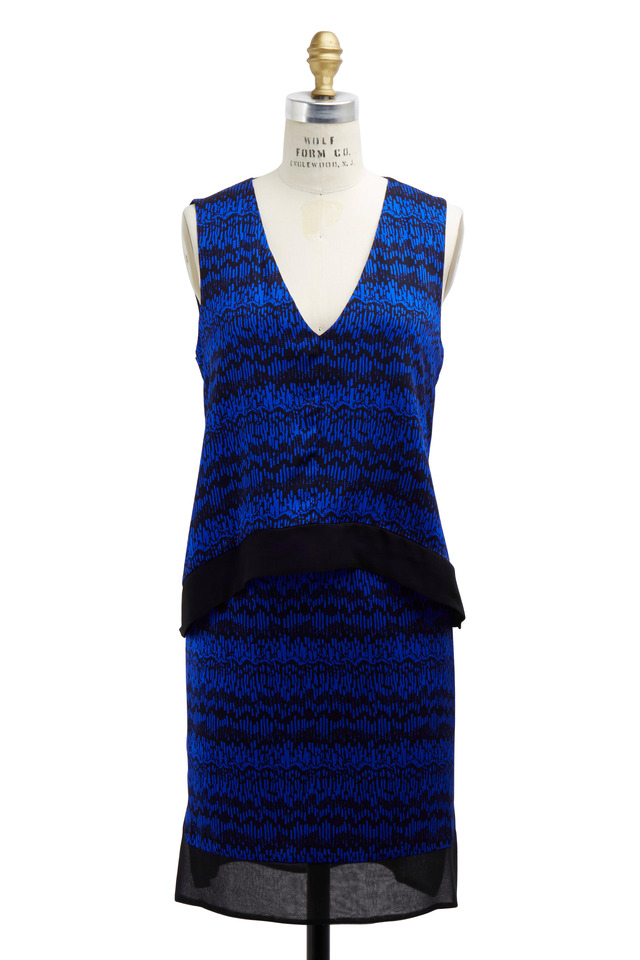Blue & Black Layered Dress