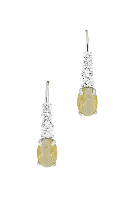 Oscar Heyman Platinum Fancy Diamond Drop Earrings