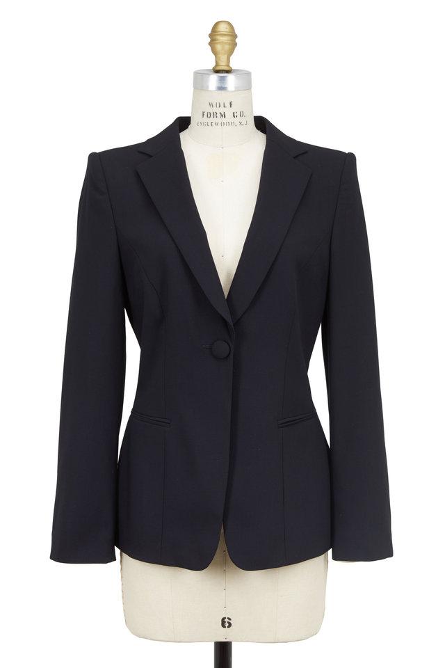 Navy Blue Wool Crêpe Jacket & Pants