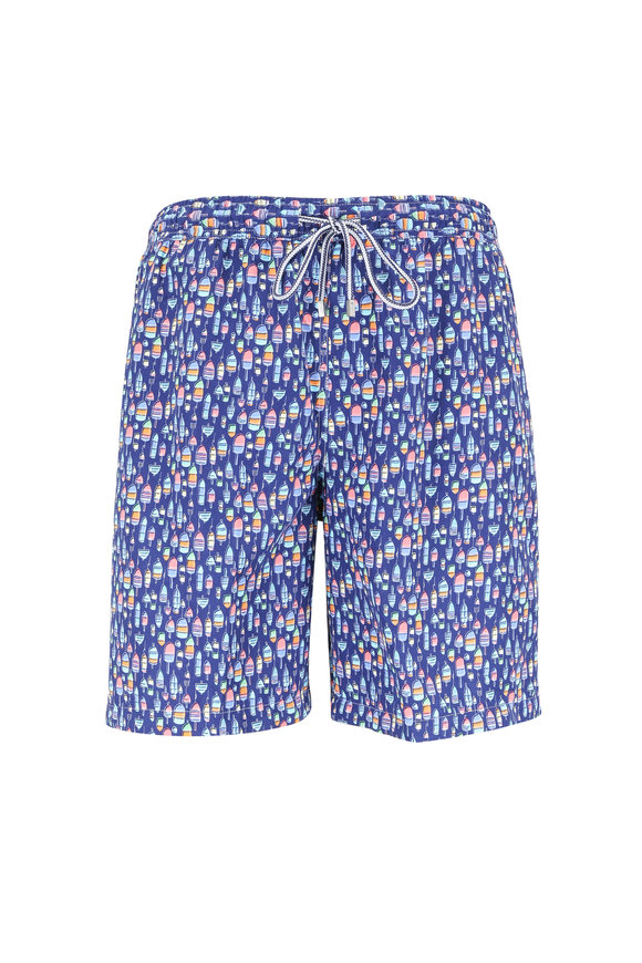 Peter Millar Atlantic Blue Buoys Swim Trunks