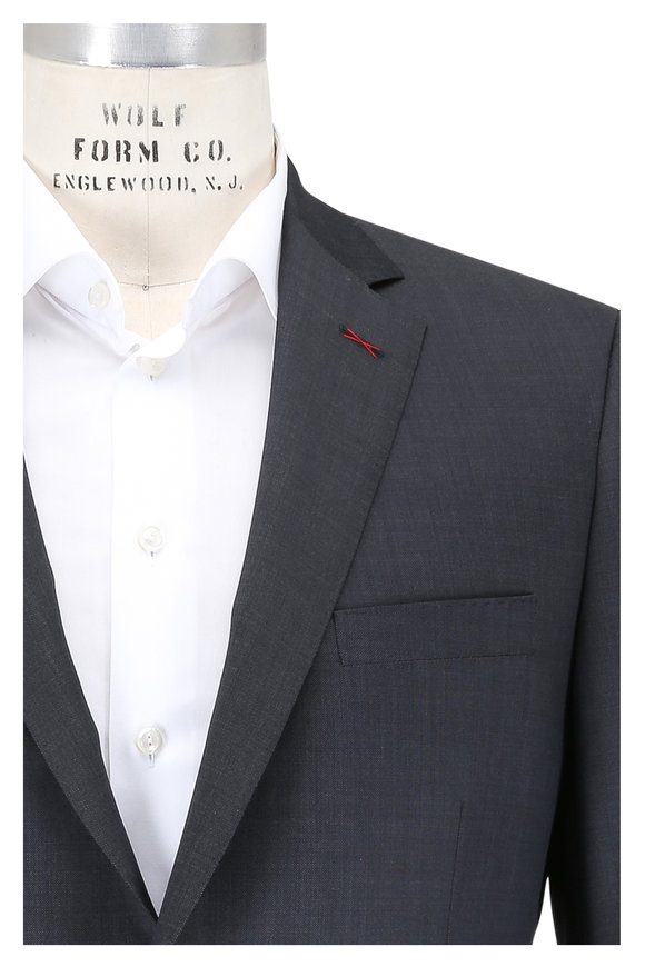 Samuelsohn Solid Dark Gray Wool Suit