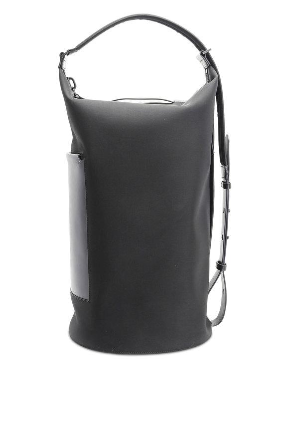 Troubadour Black Nylon & Leather Barrel Bag