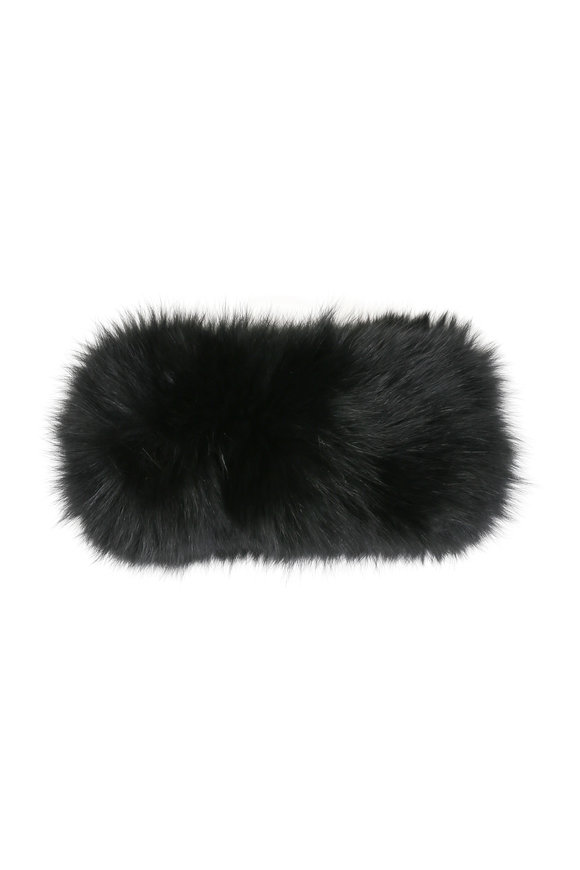Viktoria Stass Black Fox Fur Headband
