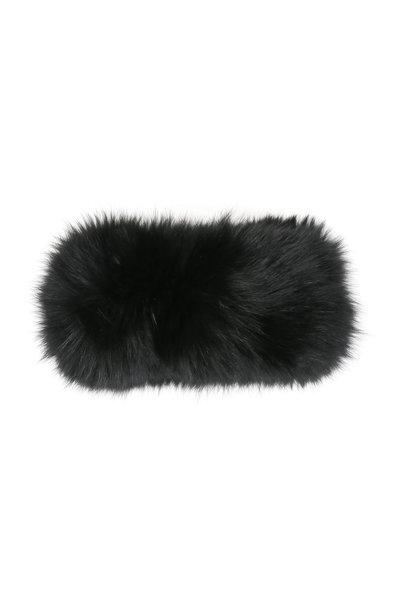 Viktoria Stass - Black Fox Fur Headband