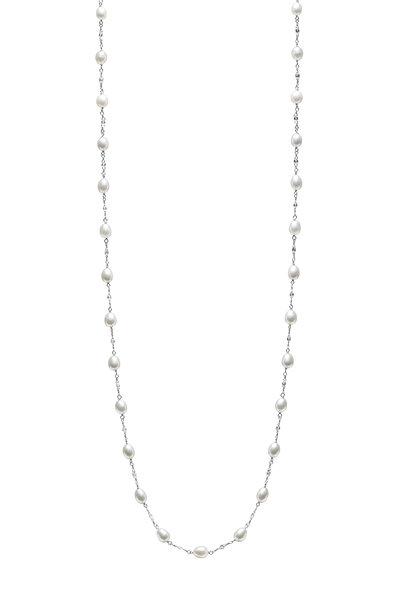 Paul Morelli - Platinum Keshi Pearl & Diamond Chain