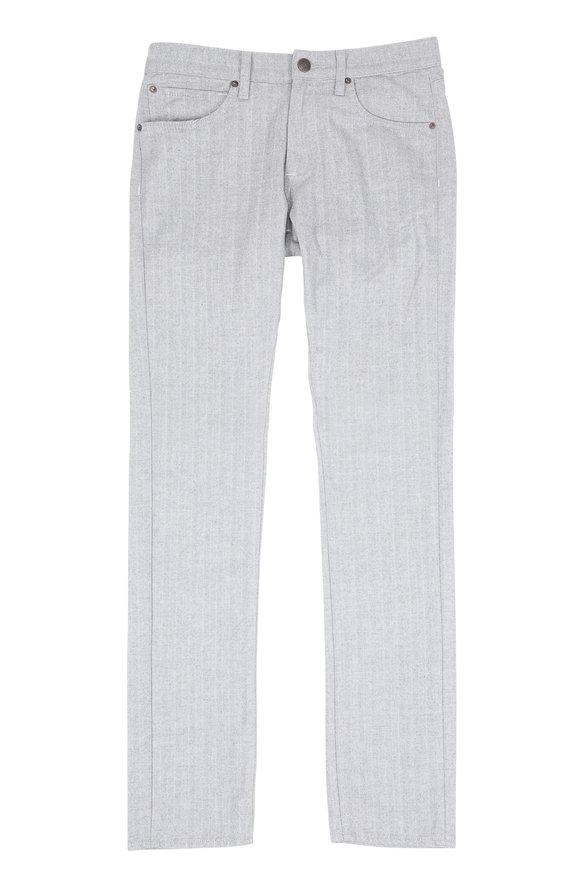 Agave No. 11 Rocker Gray Bacara Striped Five Pocket Pant