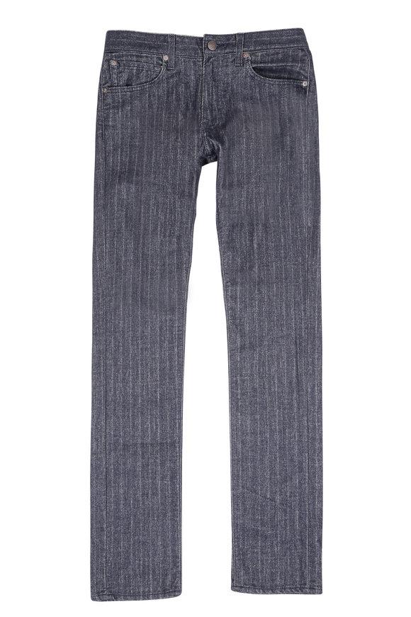 Agave No. 11 Rocker Blue Sacara Striped Five Pocket Pant