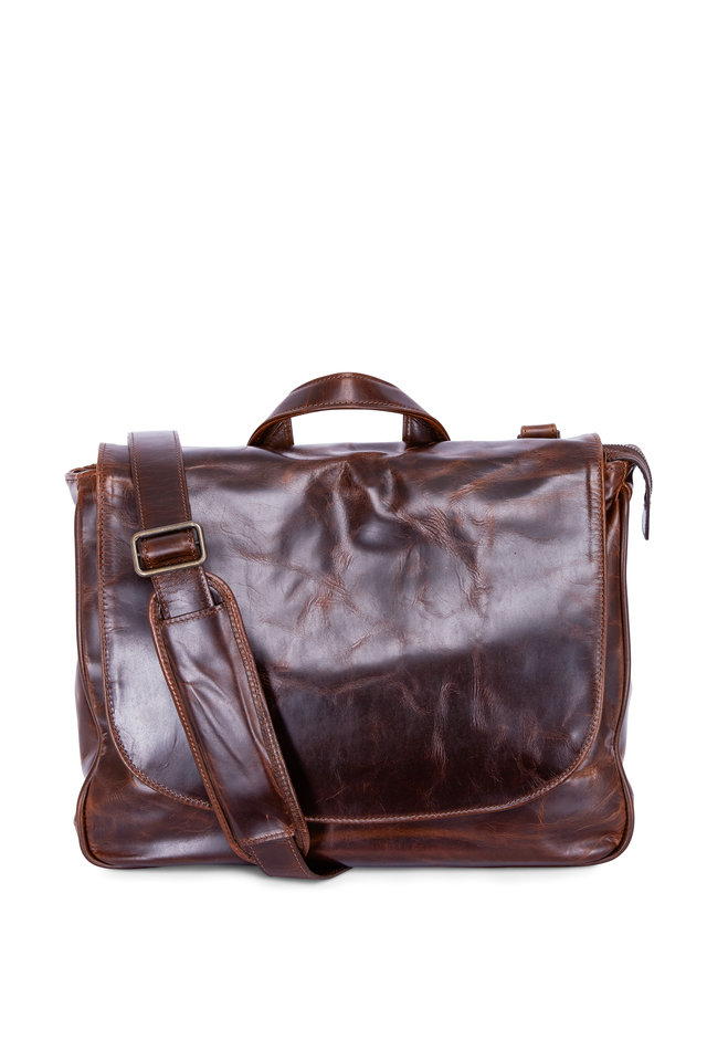 Brompton Brown Leather Mail Bag