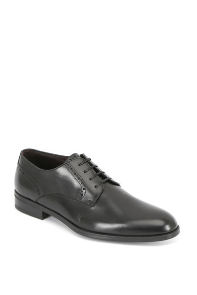 Ermenegildo Zegna - Black Leather Derby Shoe