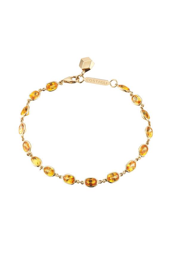 Paolo Costagli 18K Yellow Gold Orange Sapphire Bracelet