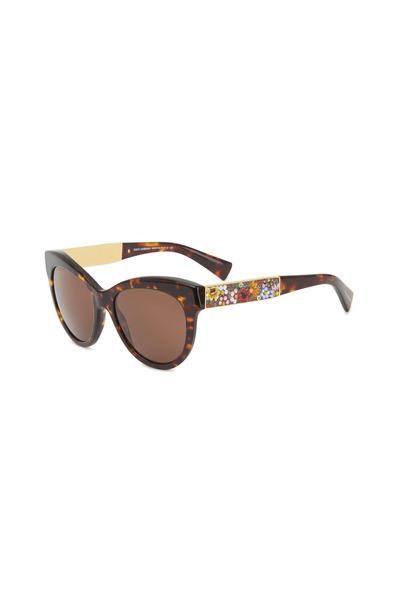 Dolce & Gabbana - Round Havana Sunglasses