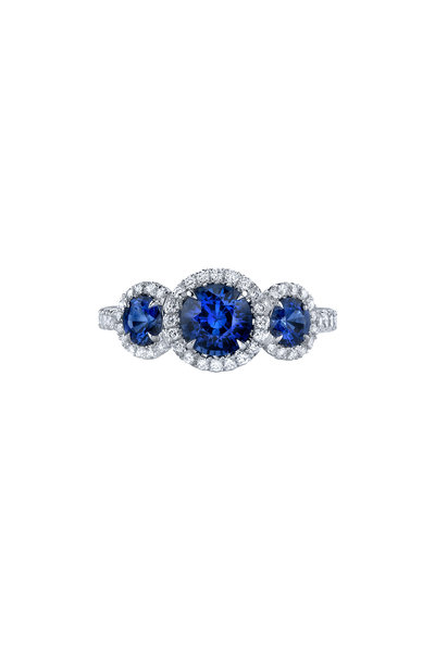 Omi Privé - 18K White Gold Sapphire & Diamond Ring