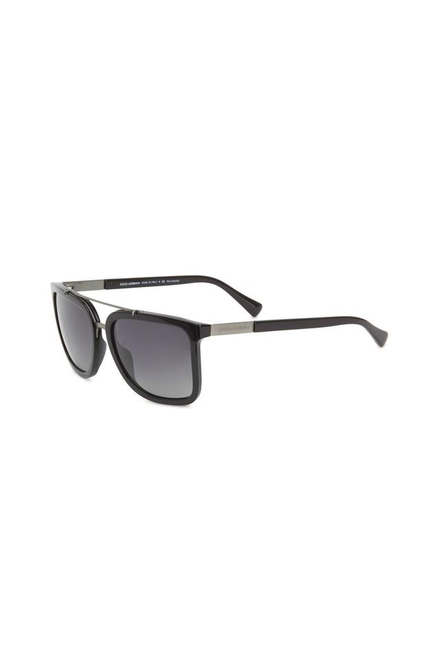 Square Black Polarized Sunglasses