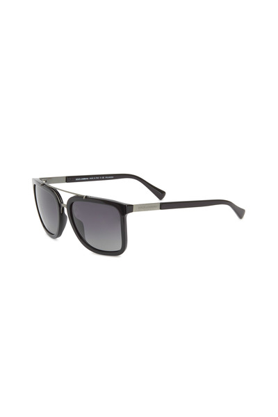 Dolce & Gabbana - Square Black Polarized Sunglasses