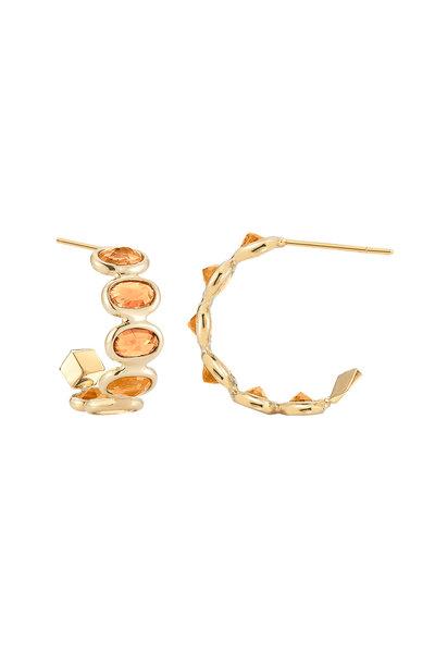 Paolo Costagli - 18K Yellow Gold Orange Sapphire Earrings