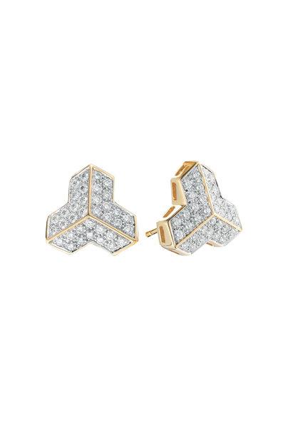 Paolo Costagli - 18K Yellow Gold Diamond Studs