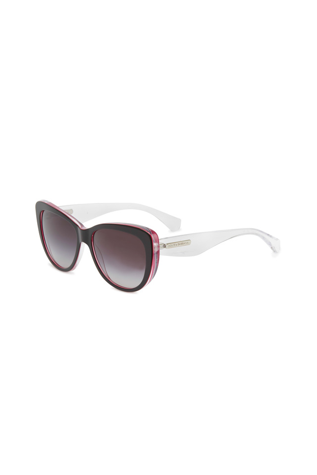 Cat-eye Black & Red Sunglasses