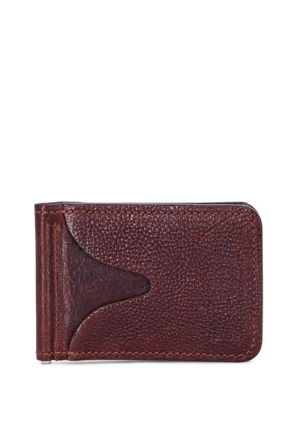 Moore & Giles Brunswick Terra Brown Spring ID Wallet