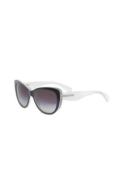 Dolce & Gabbana - Cat-eye Black & White Sunglasses