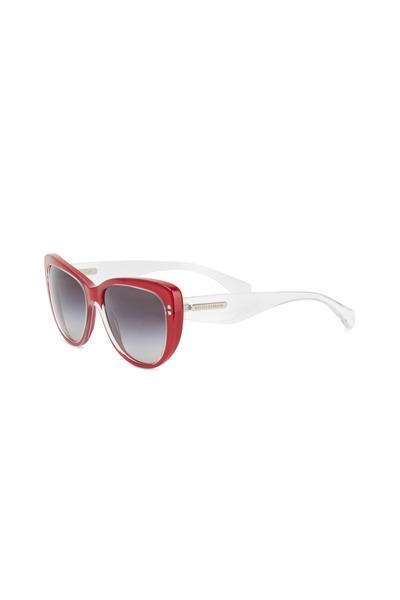 Dolce & Gabbana - Cat-eye Red & White Sunglasses