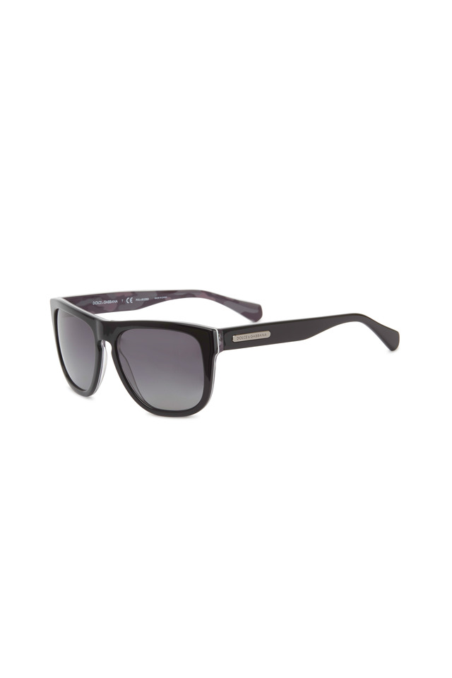 Square Black Gloss Sunglasses