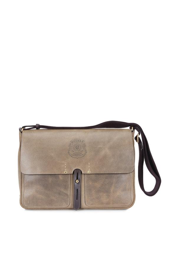 Ghurka Cross Truffle Rugged Leather Messenger Bag
