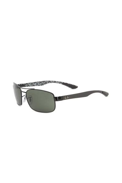 Ray Ban - Rectangular Black Sunglasses