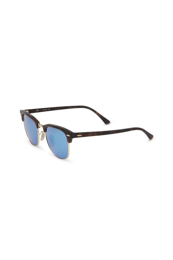 Ray Ban Clubmaster Blue MIrror Sunglasses