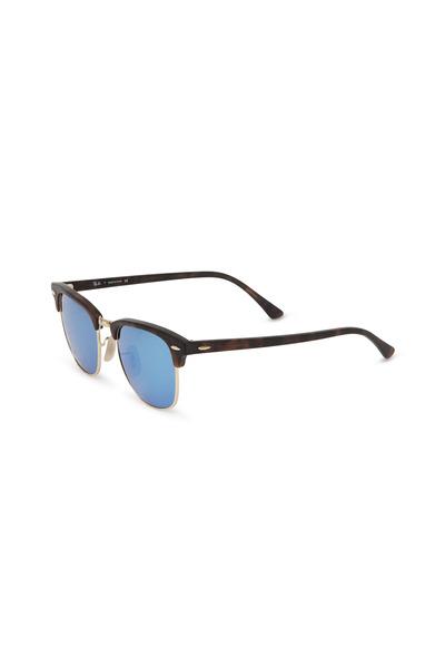 Ray Ban - Clubmaster Blue MIrror Sunglasses