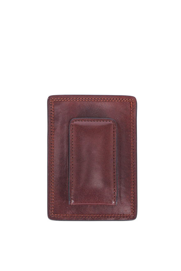 Bosca Dark Brown Leather Deluxe Magnetic Clip Wallet