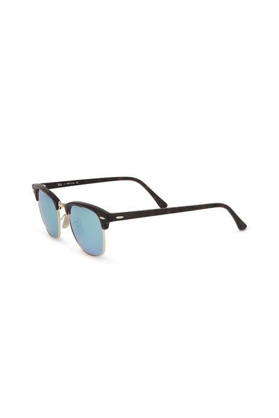 Ray Ban - Clubmaster Flash Lenses Tortoise Sunglasses
