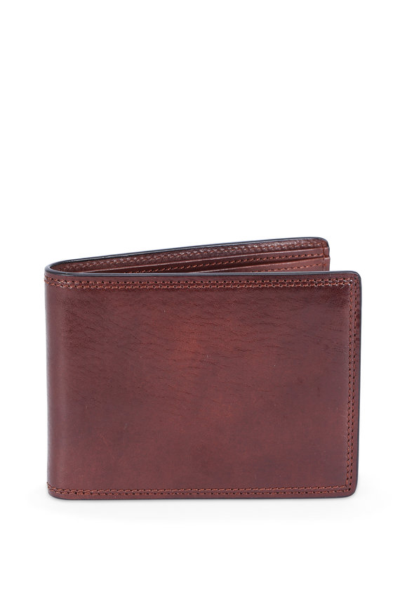 Bosca Dark Brown Deluxe Executive Eight Pocket Wallet