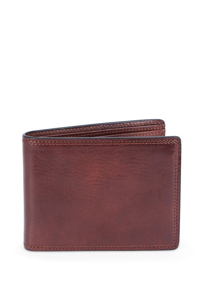 Bosca - Dark Brown Deluxe Executive Eight Pocket Wallet