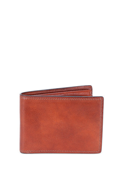 Bosca - Amber Leather ID Passcase Wallet