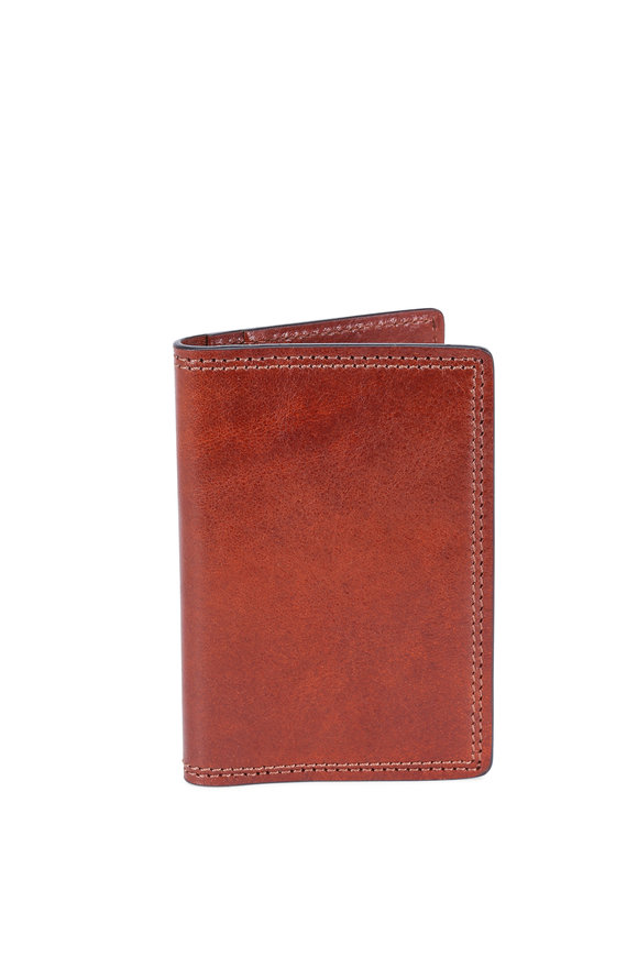 Bosca Amber Italian Leather Calling Card Case