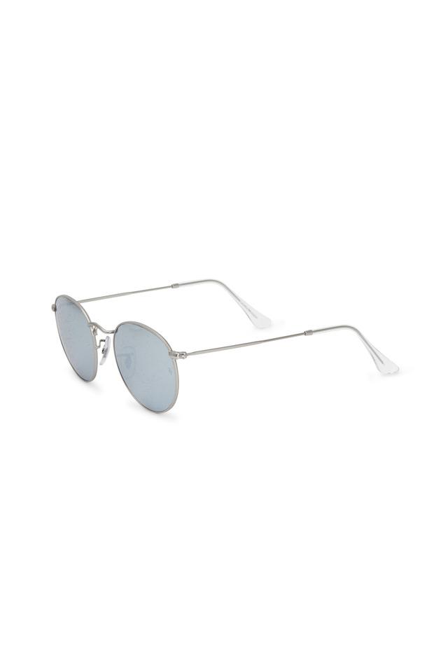 Round Flash Lenses Silver Sunglasses