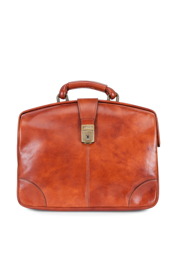 Bosca Amber Leather Partners Soft Briefcase