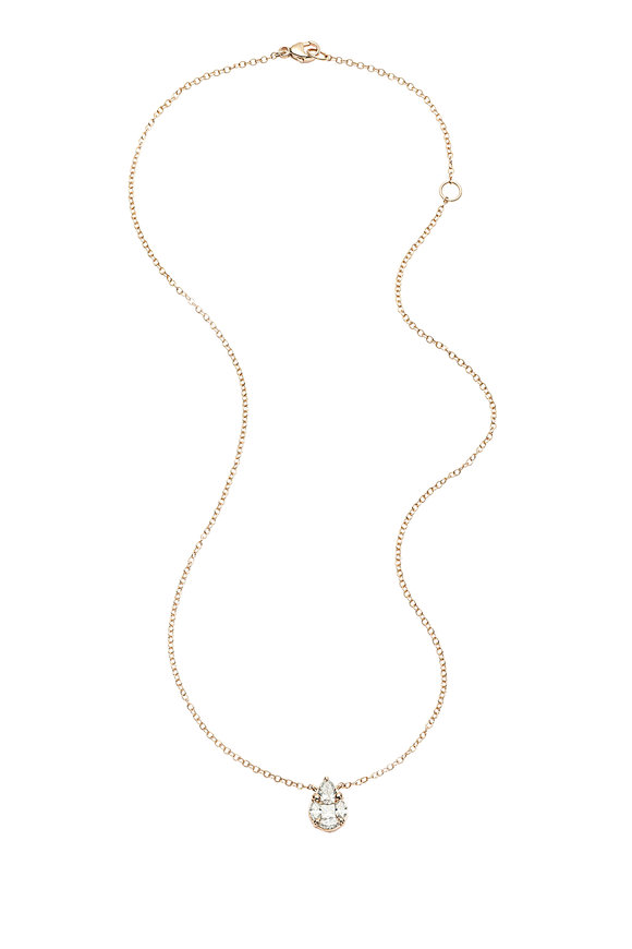 Nam Cho 18K Rose Gold Invisible Diamond Necklace