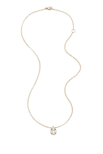 Nam Cho - 18K Rose Gold Invisible Diamond Necklace