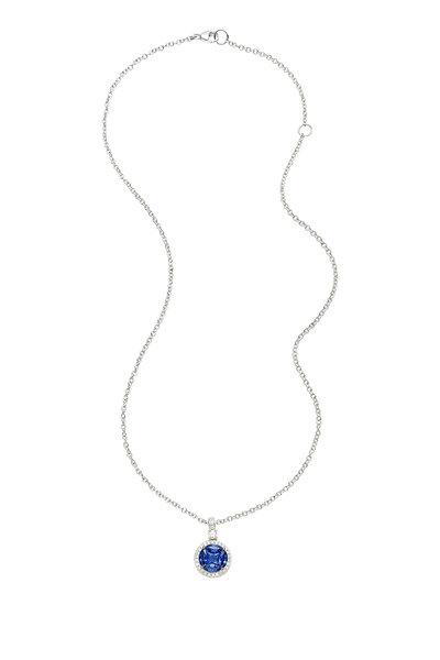 Nam Cho - INVISIBLE CEYLON BLUE SAPPHIRE NECKLACE
