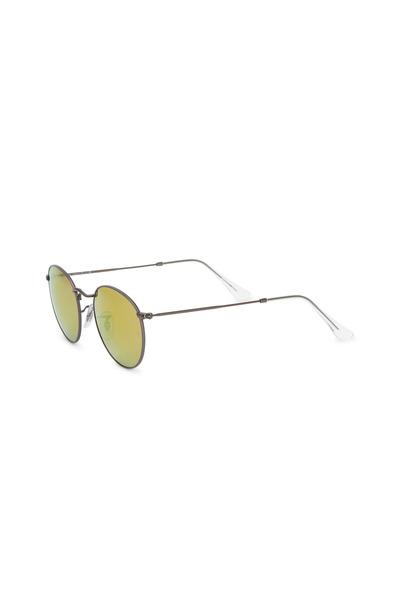 Ray Ban - Aviator Gunmetal Round Sunglasses