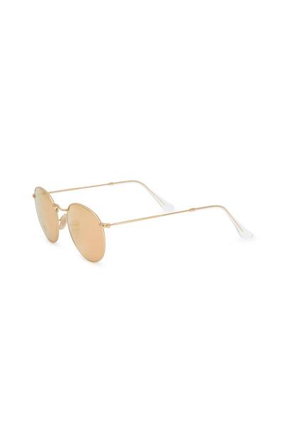 Ray Ban - Aviator Gold Round Sunglasses