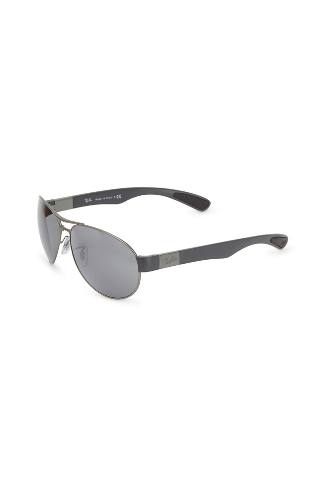 Pilot Silver Double Bar Sunglasses
