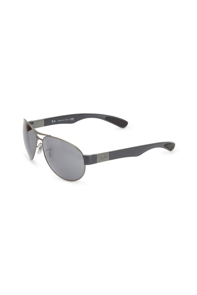 Ray Ban - Pilot Silver Double Bar Sunglasses