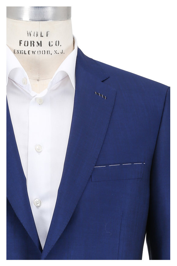 Brioni Solid High Blue Wool & Mohair Suit